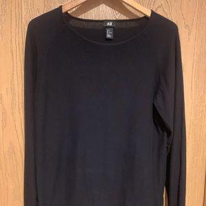 Men's Long Sleeve Black Sweater by H&M